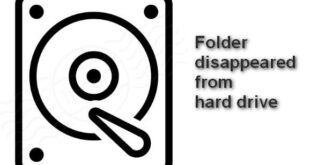 Folder disappeared