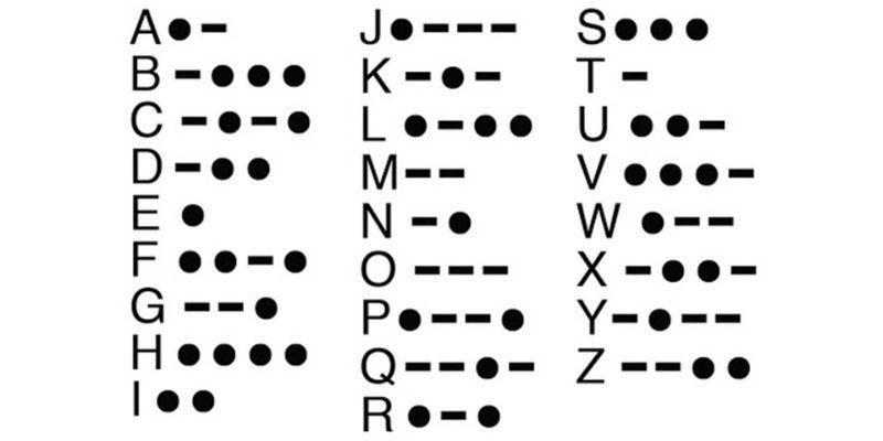 Morse Code Alpha